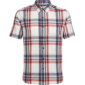 Icebreaker Compass t-shirt Heren blauw/wit